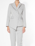 Gray Asymmetrical Suit