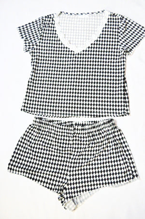 Black and White Short Set