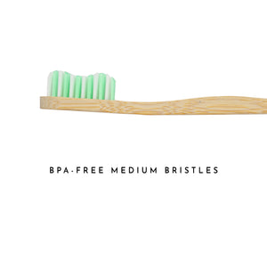 Organic Bamboo Toothbrush for Adults -  Green