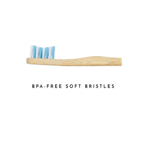 Organic Bamboo Toothbrush for Children - Blue