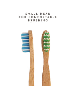 small head bamboo toothbrush comfortable ergonomic