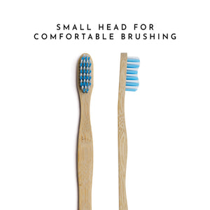 Organic Bamboo Toothbrush for Adults - Blue