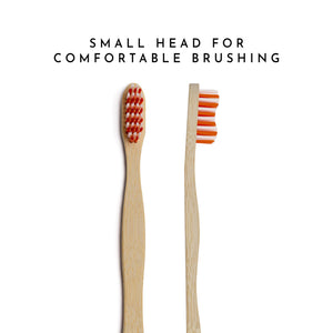 Organic Bamboo Toothbrush for Adults -  Red