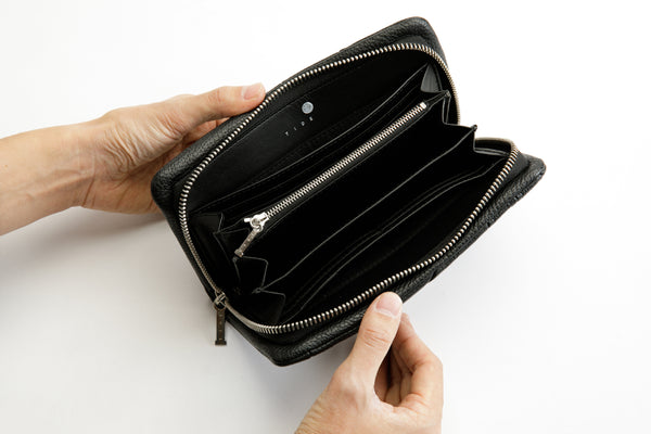 ZIPPER WALLET Black