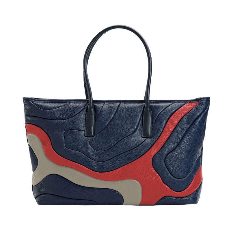 WIDE TOTE Navy Custom
