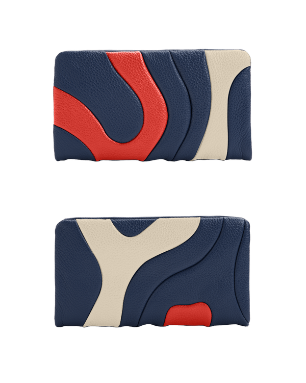 ZIPPER WALLET Navy Custom