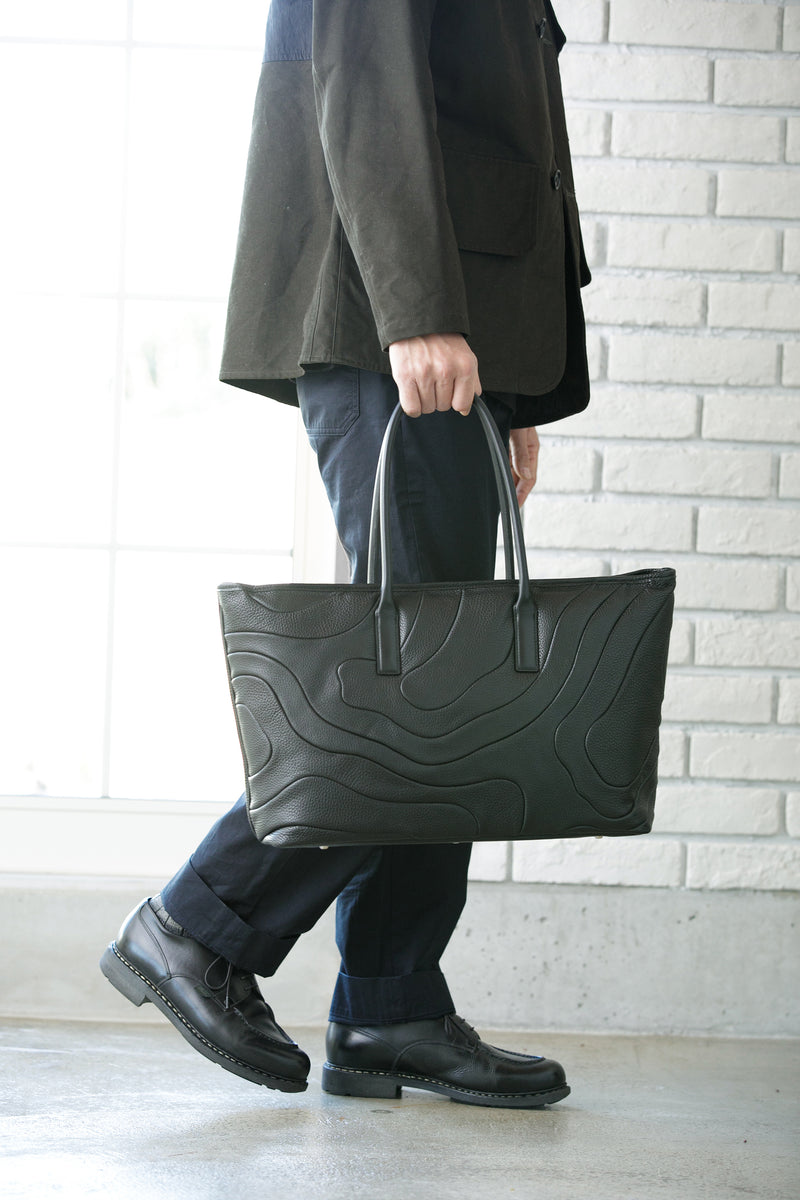 WIDE TOTE Black Custom