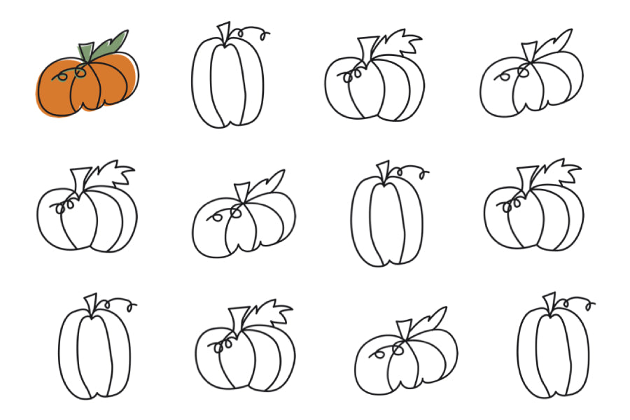 Pumpkin Coloring Page Freebie