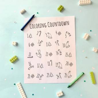 Coloring Countdown