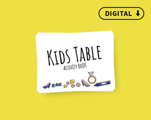 Digital Kid's Wedding Activity Book