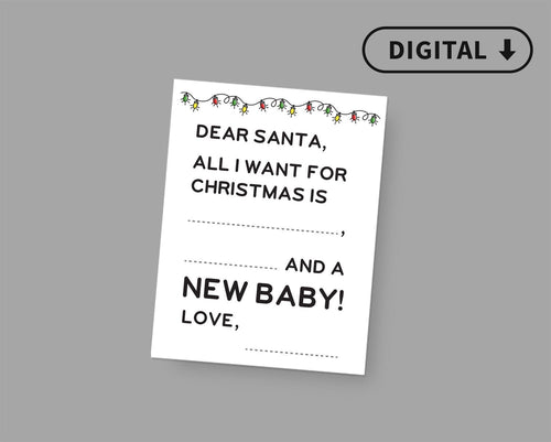 Christmas Baby Announcement Photo Sign