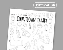 Load image into Gallery viewer, Countdown to Baby Coloring Poster For Siblings and Cousins