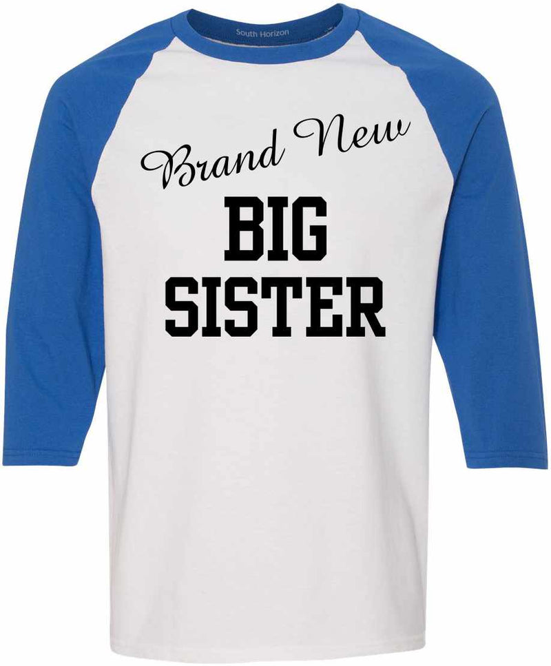 Brand New Big Sister on Adult Baseball Shirt