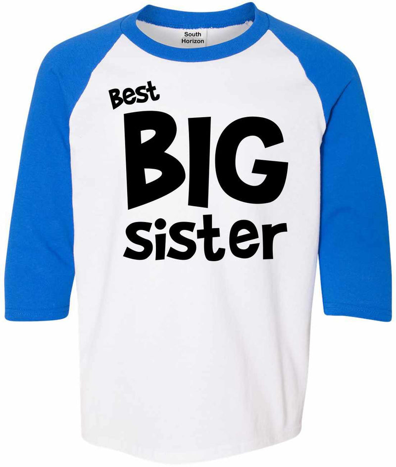 Best Big Sister on Youth Baseball Shirt