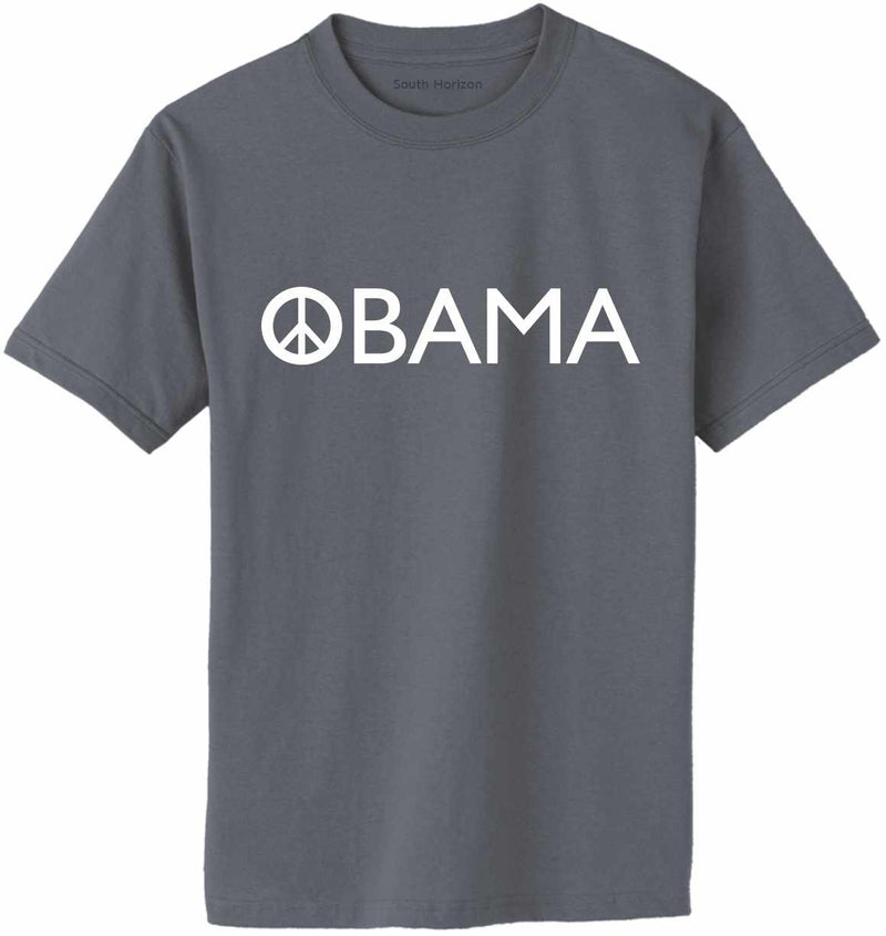OBAMA Peace Sign Adult T-Shirt