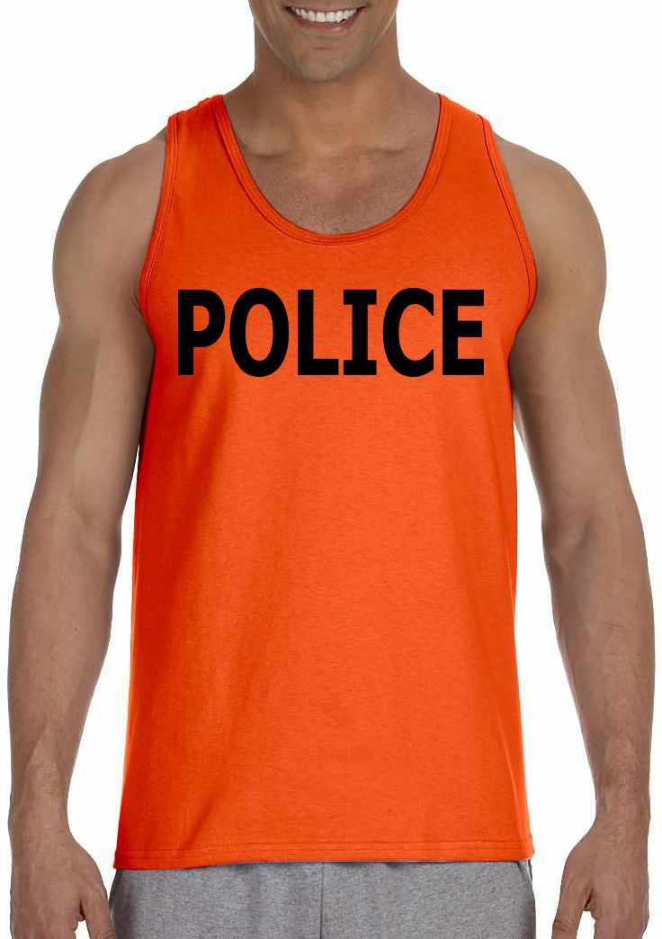POLICE on Mens Tank Top