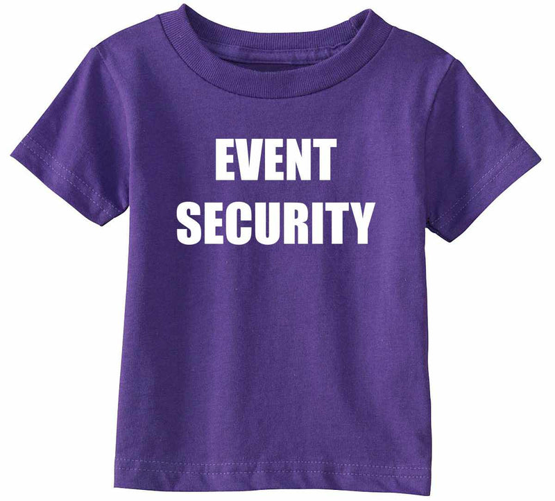 EVENT SECURITY Infant Toddler Shirt - Purple / Infant-12M - Purple / Infant-18M - Purple / Toddler-2T - Purple / Toddler-3T - Purple / Toddler-4T - Purple / Toddler-5/6 - Purple / Toddler-7