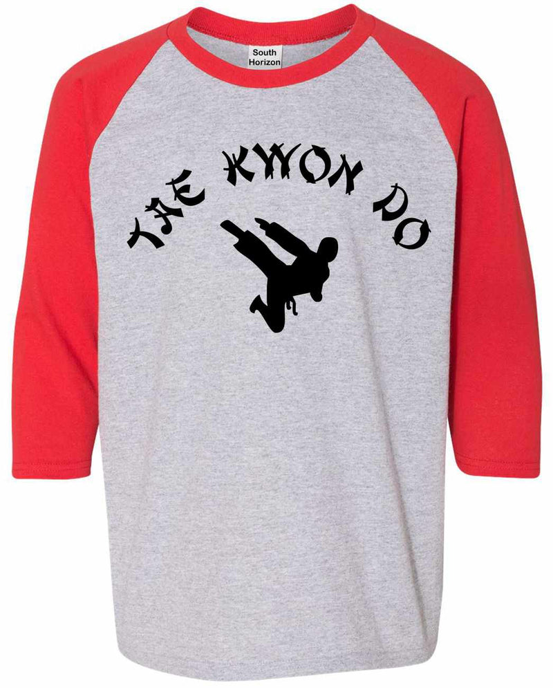 TAE KWON DO on Youth Baseball Shirt