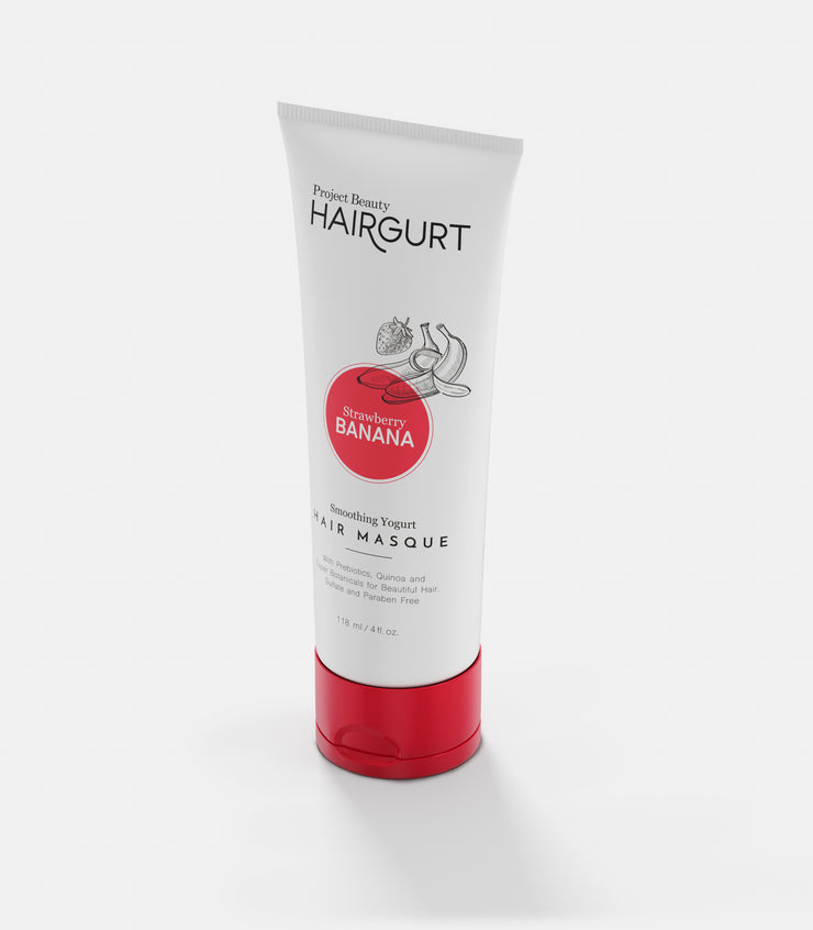 HAIRGURT STRAWBERRY-BANANA SMOOTHING YOGURT HAIR MASK 4oz