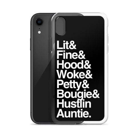 Yeaux Mama Black Every Auntie iPhone Case