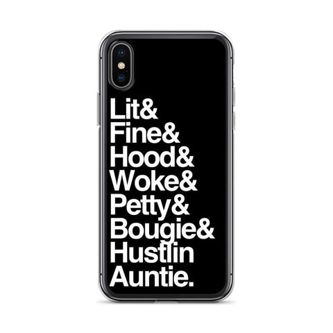 Yeaux Mama iPhone X/XS Black Every Auntie iPhone Case
