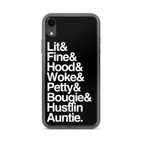 Yeaux Mama iPhone XR Black Every Auntie iPhone Case