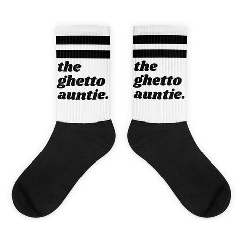 Yeaux Mama One Size / Ghetto Auntie The Blank Auntie Socks