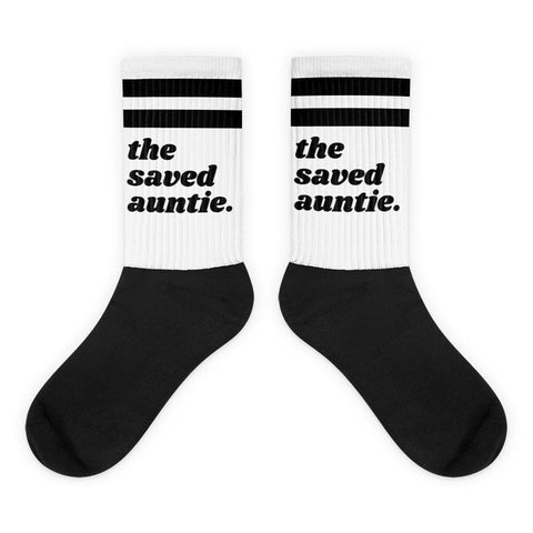 Yeaux Mama One Size / Saved Auntie The Blank Auntie Socks