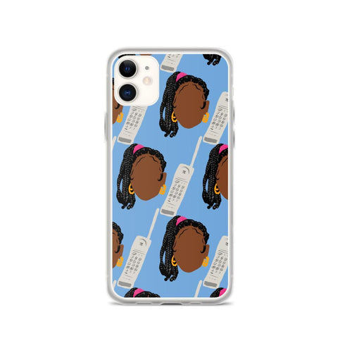 Yeaux Mama phone case iPhone 11 / Box Braids Auntie iPhone Case 90s Auntie iPhone Case