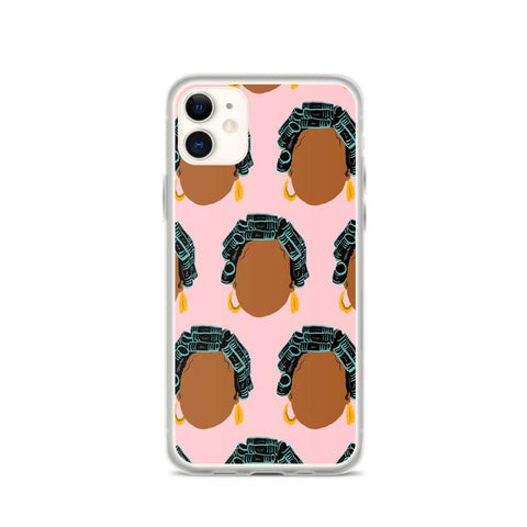 Yeaux Mama phone case iPhone 11 / Hair Roller Auntie iPhone Case 90s Auntie iPhone Case