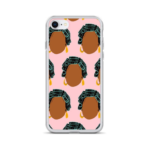 Yeaux Mama phone case iPhone 7/8 / Hair Roller Auntie iPhone Case 90s Auntie iPhone Case