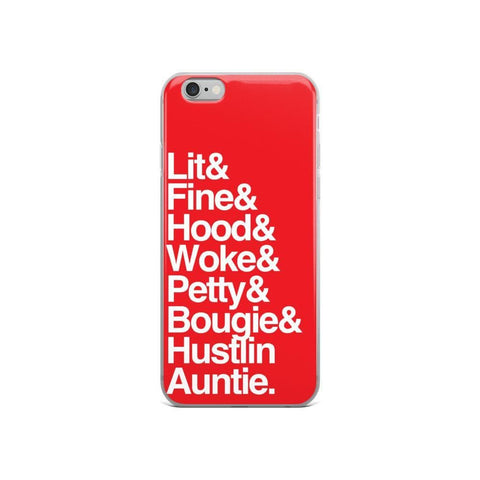 Yeaux Mama Red Every Auntie iPhone Case