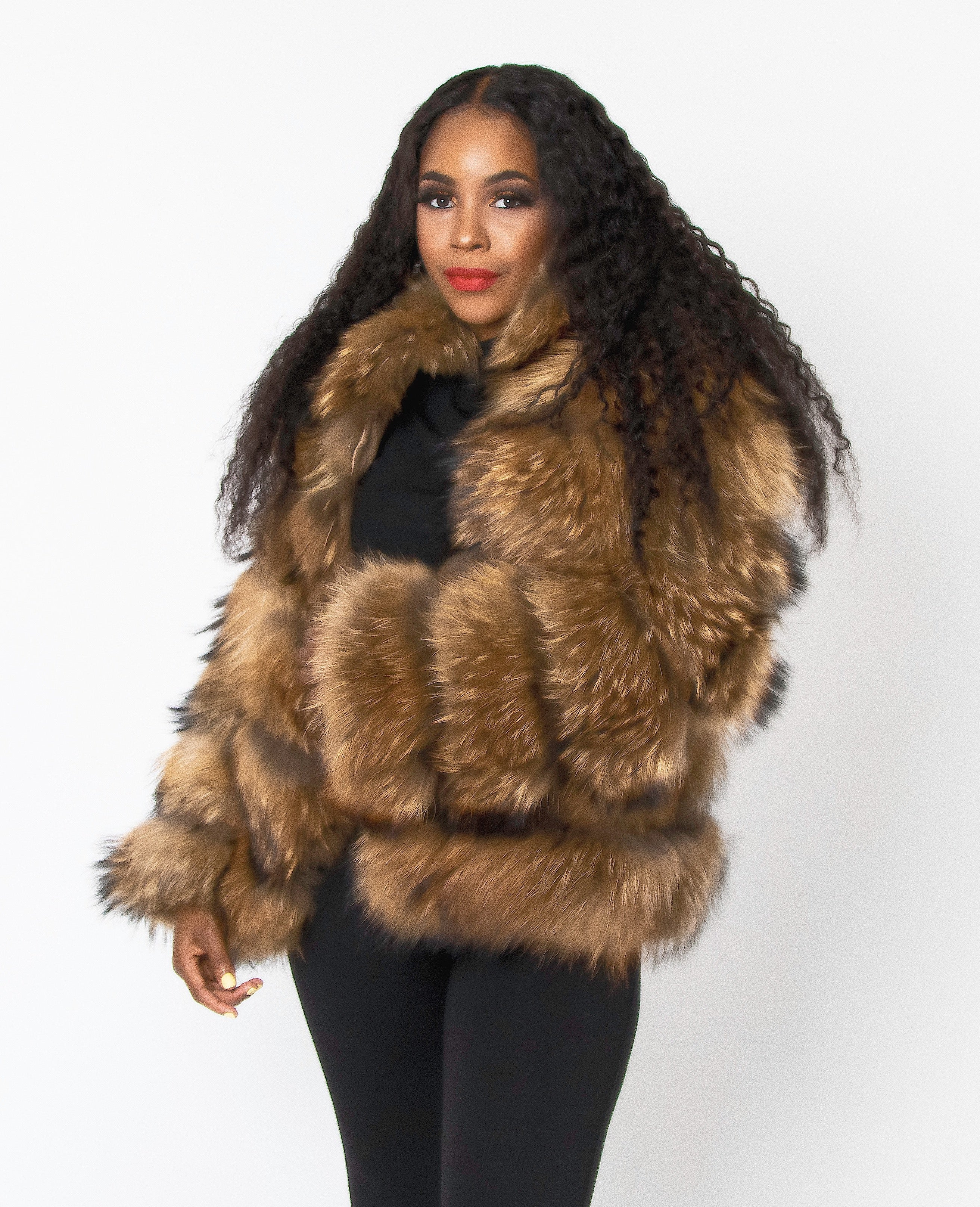 Carla Coat - Raccoon Fur