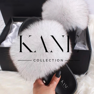Fur Slides - Frosted White