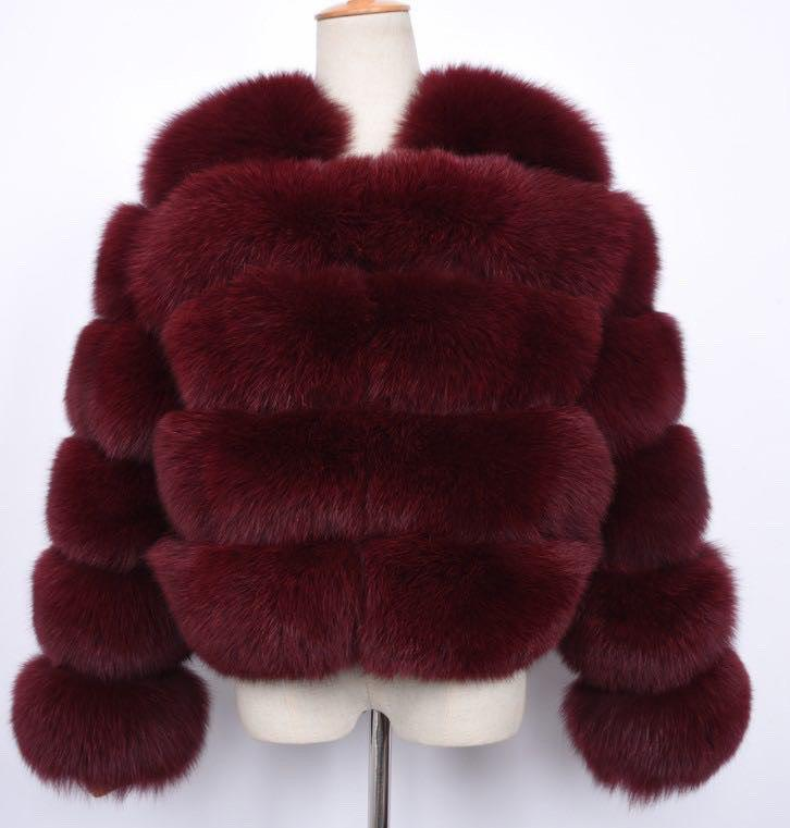 Aaliyah Coat - Wine red