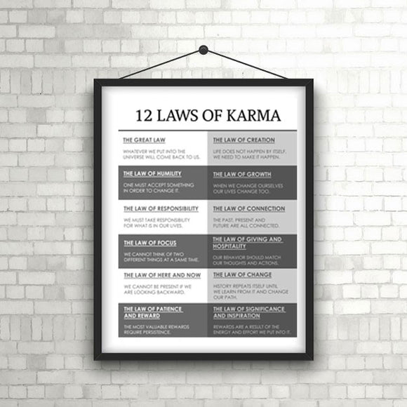 Classic 12 Laws of Karma Poster 18