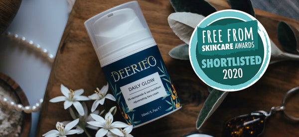 Deerieo Skincare Daily Glow natural face moisturizer was shortlisted to the finals in Free From Skincare Awards 2020.