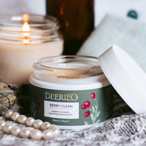 Deerieo Berry Clean cleansing balm, facial mask and dry skin treatment multifunctional product is suitable for sensitive and dry skin types.