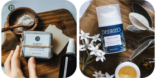 Deerieo Purity Face and Body Soap and Daily Glow moisturising face cream.
