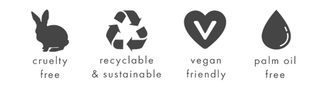 Deerieo Natural Skincare rangle is cruelty-free, recycleable, vegan and free from palm oil.