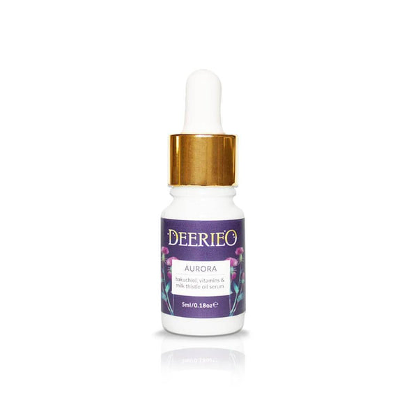 Deerieo Aurora Facial Oil Serum is available in 5 ml glass dropper bottle so you can test it or take it with you on a travel.
