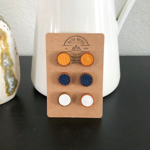 Leather + Wood Studs WHOLESALE