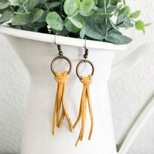 Load image into Gallery viewer, Suede Fringe Earrings WHOLESALE