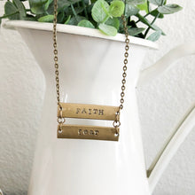 Load image into Gallery viewer, Faith over Fear Bronze Necklace WHOLESALE