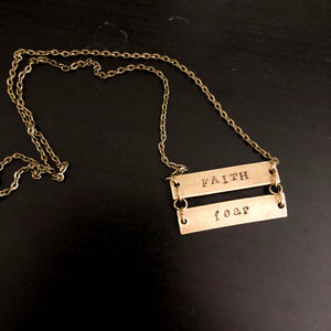 Faith over Fear Bronze Necklace WHOLESALE