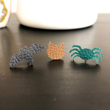 Load image into Gallery viewer, Halloween Spooky Leather Stud Earrings WHOLESALE