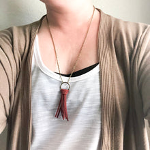 Load image into Gallery viewer, Suede Fringe Necklace