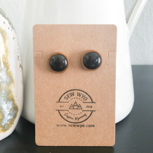 Ebony + Wood Studs