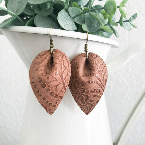 Embossed Petal Earrings