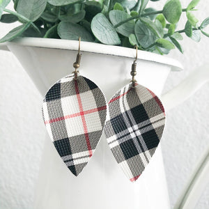 Plaid Petal Earrings